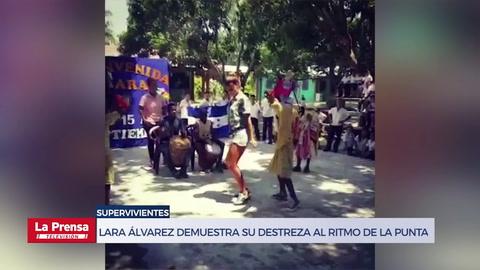 Lara Álvarez demuestra su destreza al ritmo de la punta