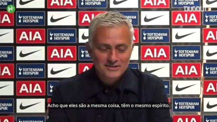"""Mourinho exalta discussão entre Son e Lloris: """"fiquei feliz, nada de errado"""""""