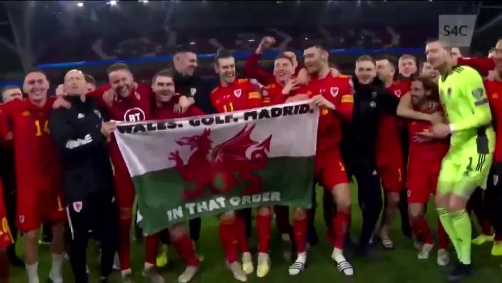 Bale se mofa del Madrid con la bandera 'Gales. Golf. Madrid'