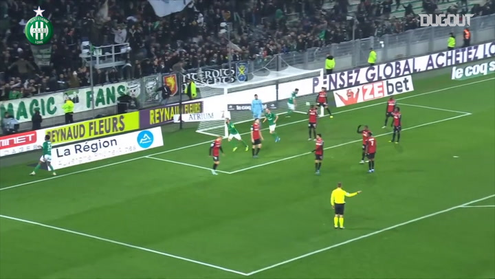 Wesley Fofana's first goal with Saint-Etienne