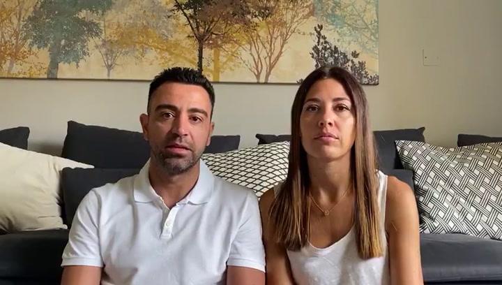 El Clínic anuncia que Xavi y su esposa han donado un millón de euros contra el coronavirus