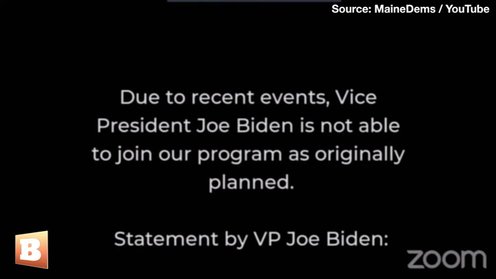 'Due to Recent Events' Joe Biden Unable to Virtually Join Maine Democrat Convention