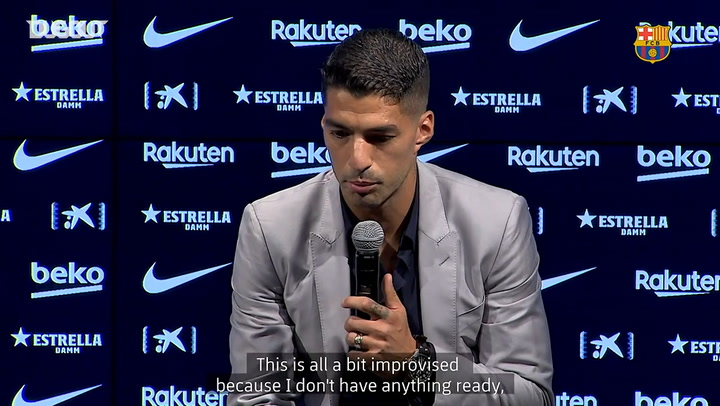 Luis Suárez delivers tearful Barça farewell