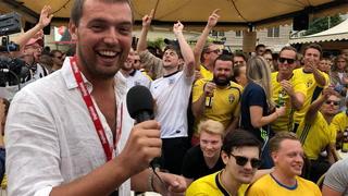 Reporter satt ut av svenskenes Norge-hyllest før kvartfinalen
