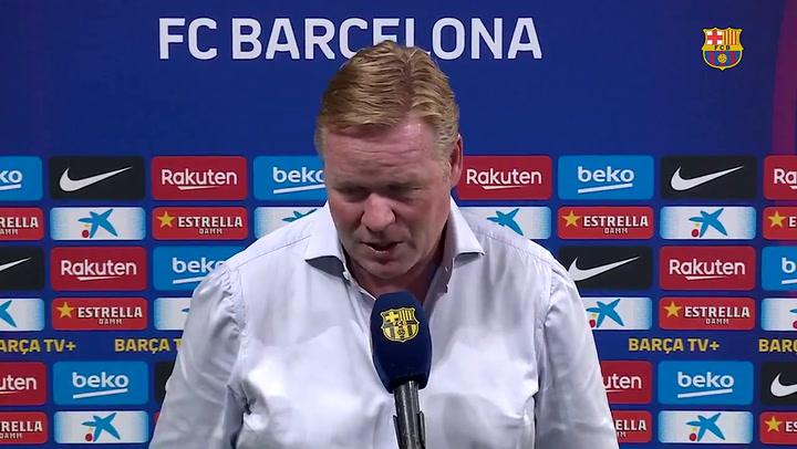 Declaraciones de Koeman tras el partido contra el Girona