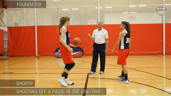 Shooting Off A Pass - Receiving In The One-Two Step Pattern