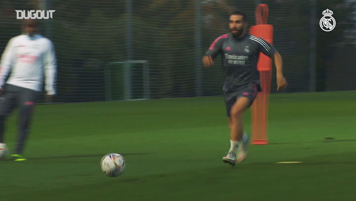 High-intensity drills with finishing in Real Madrid training