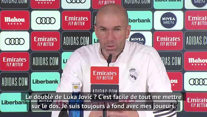"""Real Madrid - Zidane sur Luka Jović : """"C'est facile de tout me mettre sur le dos"""""""