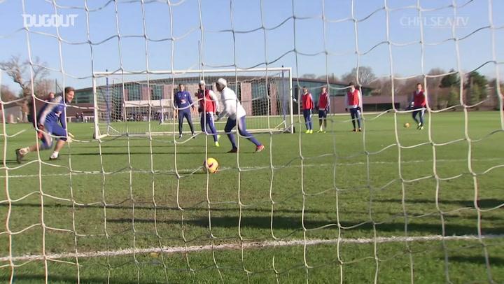 Eden Hazard Rabona Nutmeg In Training