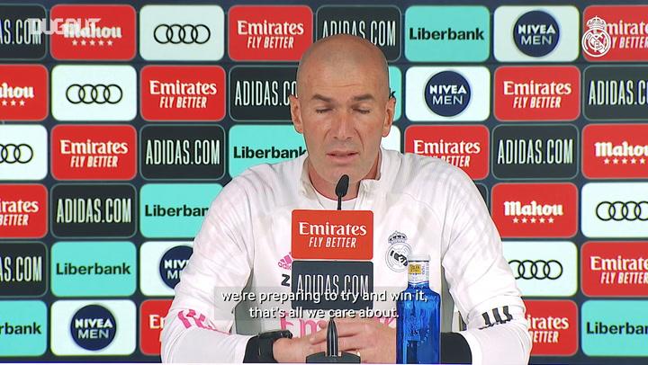 Zinedine Zidane: 'We'll fight until the final game'