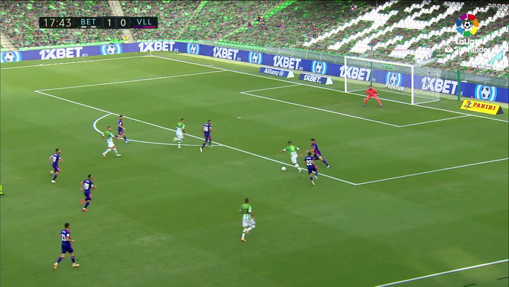 Gol de William Carvalho (2-0) en el Betis 2-0 Valladolid