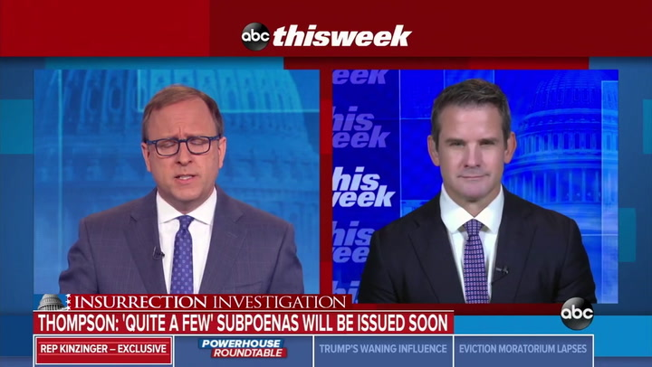 Kinzinger: 'Significant Number of Subpoenas' from 1/6 Committee, I Support Calling Kevin McCarthy