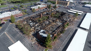 Drone footage shows devastation of office park fire