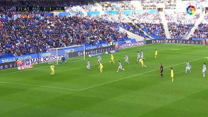 Gol de Cazorla (1-2) en el Real Sociedad 1-2 Villarreal