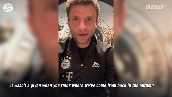 Thomas Muller answers questions on how Bayern celebrated Bundesliga title