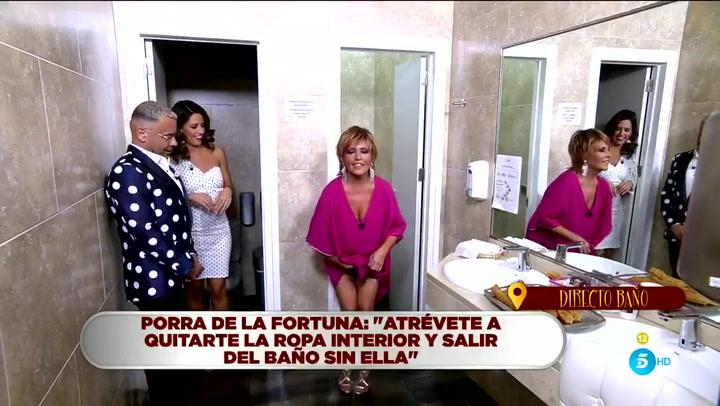 Lydia Lozano se quita la ropa interior en directo