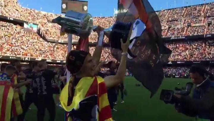 Mestalla celebra la Copa del Valencia