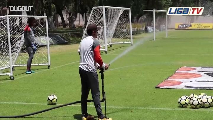 Slippery Goalkeeper Training Drill!