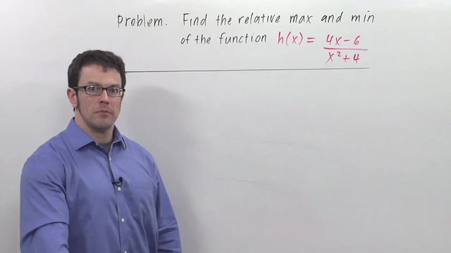 The First Derivative Test for Relative Maximum and Minimum - Problem 3