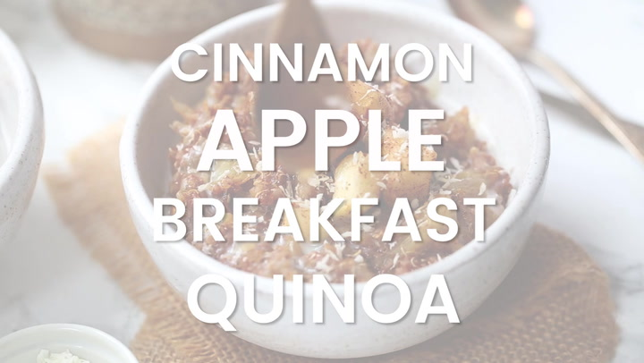 Cinnamon Apple Quinoa Breakfast