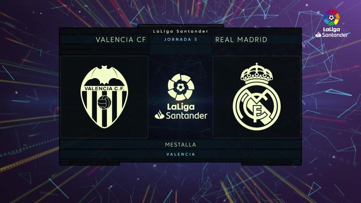 LaLiga (J5): Resumen y goles del Valencia 1-2 Real Madrid