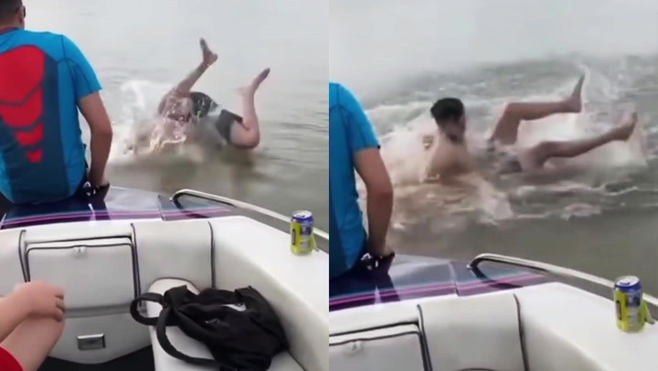 Man dives head-first into lake that turns out to be as shallow as a puddle