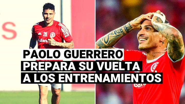 """Internacional estima que Paolo Guerrero pueda entrenar """"sin limitaciones"""" desde el próximo mes"""