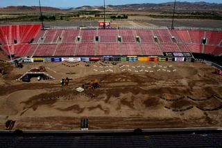 Monster Energy Supercross track time lapse