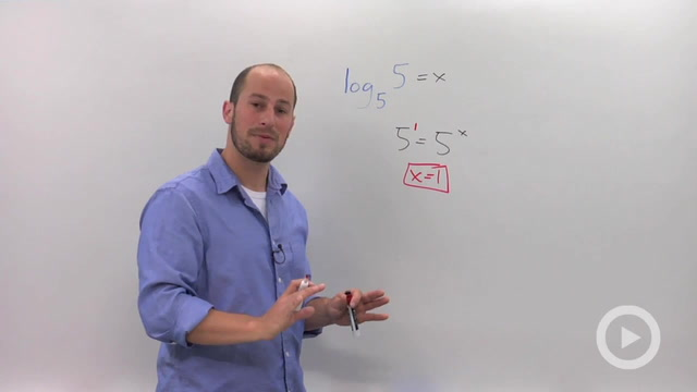 Solving Simple Logarithmic Equations - Problem 4