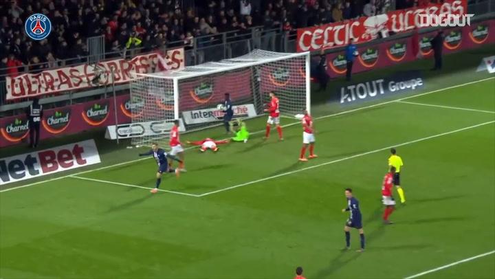 Mauro Icardi's winning goal vs Brest in Ligue 1