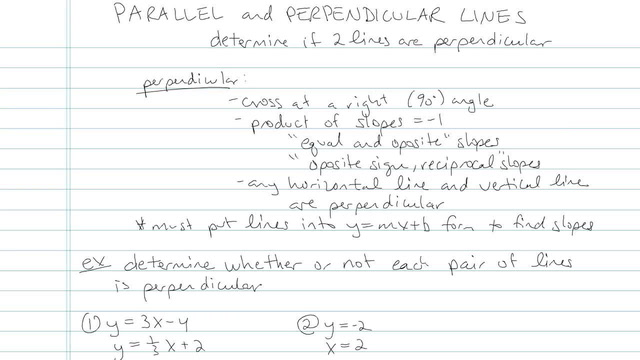 Parallel and Perpendicular Lines - Problem 6