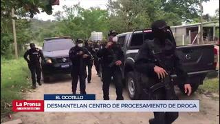 Desmantelan centro de procesamiento de droga en El Ocotillo