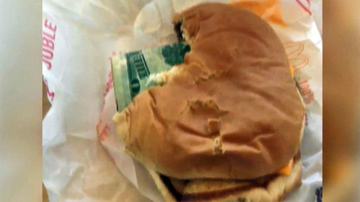 Fant 20 dollar i hamburgeren