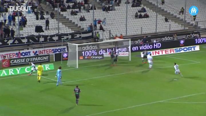 El hat-trick de André Ayew ante el AC Ajaccio