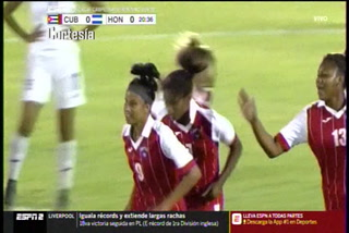 Primer tiempo: Honduras cae 2-0 ante Cuba en Premundial Sub 20 Femenino