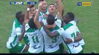 Juan Bolaños anota el 2-1 ante el Marathón