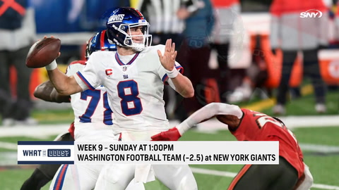 What are the odds for the Giants to beat Washington on Sunday?