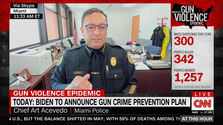 Miami Police Chief: Big City Chiefs 'Don't Have a Seat at the Table' for Biden Crime Talks, Need Him to Talk about 'Coddling Violent Criminals'