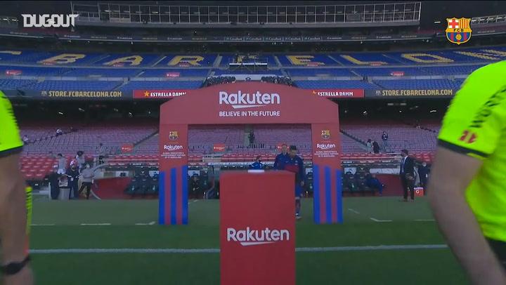 El homenaje del Barça a Diego Armando Maradona