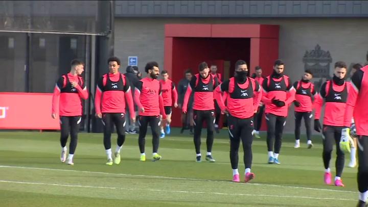 El entrenamiento del Liverpool previo al partido de Champions League contra el Madrid