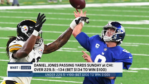 What are the odds on Daniel Jones' passing yards in Week 2?