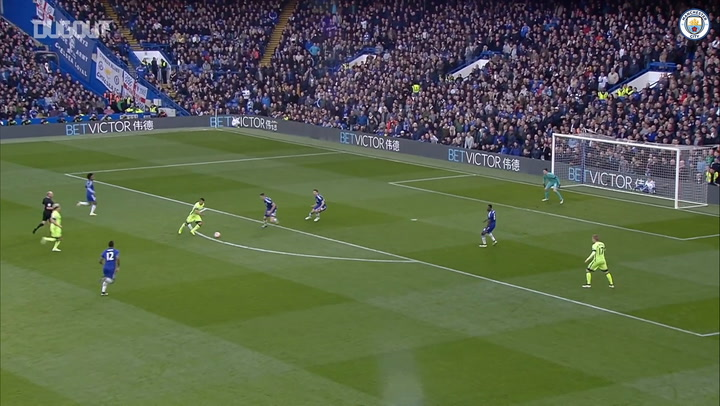 Sergio Agüero's goals at Stamford Bridge
