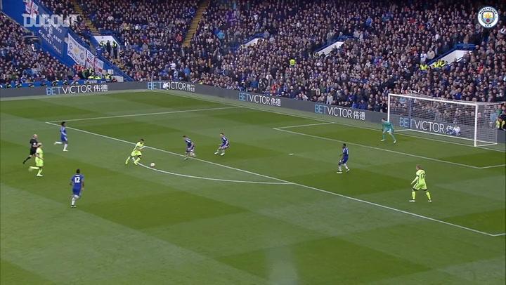 Sergio Agüero's goals at Stamford Bridge