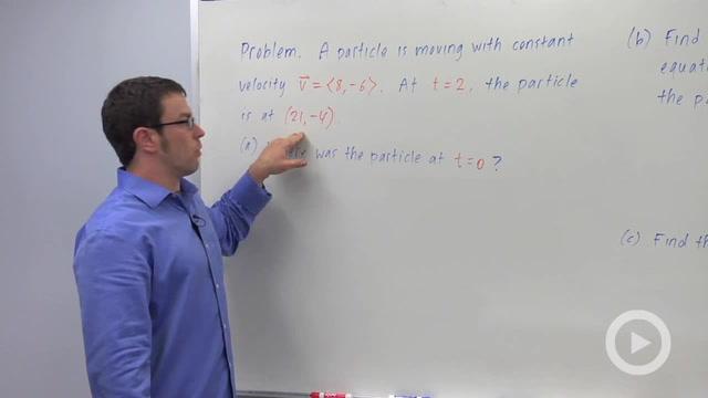 Motion Along a Line - Problem 1