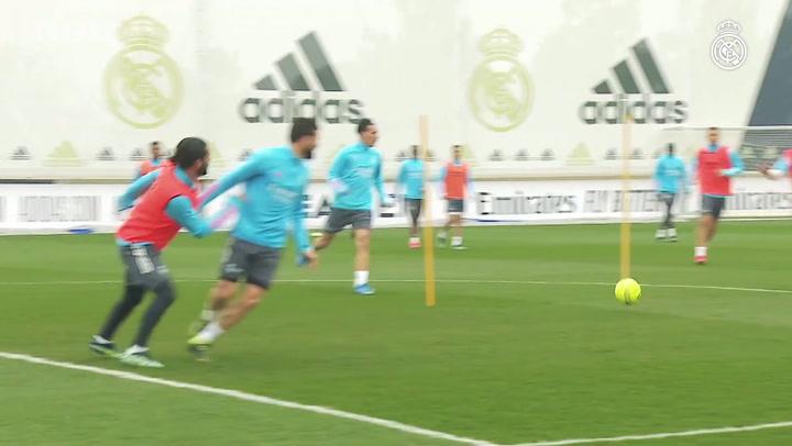 Real Madrid continua preparação para o clássico contra o Atlético