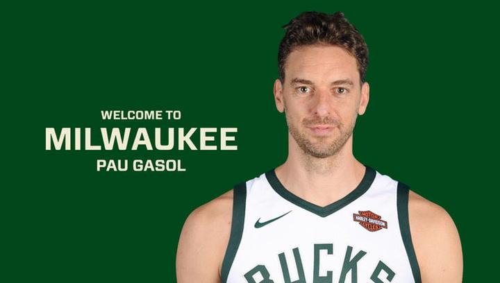 El espectacular recopilatorio de jugadas de Pau Gasol con el que Milwaukee Bucks le ha dado la bienvenida