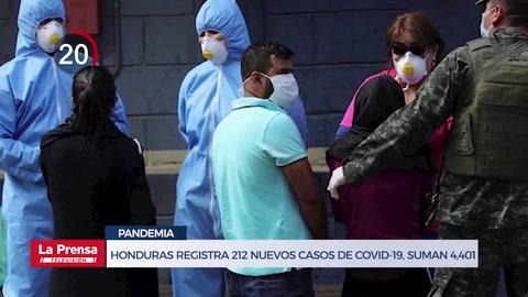 Avance Informativo: Honduras registra 212 nuevos casos de COVID-19, suman 4,401