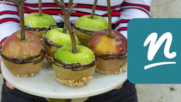 Karamellmázas almák videó