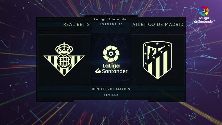 LaLiga (J30): Resumen y goles del Betis 1-1 Atlético de Madrid