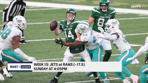 What are the latest odds for the Jets to get a win over the Rams?